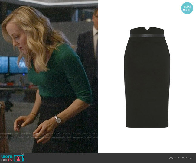 Karen Millen High-Waisted Pencil Skirt worn by Marissa Morgan (Geneva Carr) on Bull