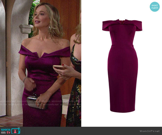 Karen Millen Satin Bodycon Dress worn by Donna Logan (Jennifer Gareis) on The Bold & the Beautiful