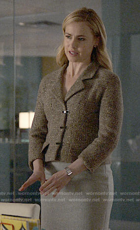 Katrina's brown tweed jacket on Suits