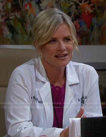 Kayla's pink embroidered dress on Days of our Lives