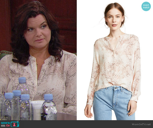 L'Agence Bardot Top worn by Heather Tom on The Bold & the Beautiful