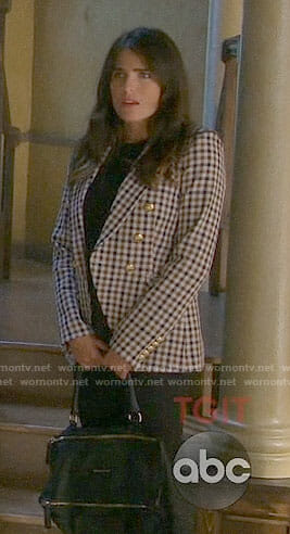Laurel's checked blazer on How to Get Away with Murder