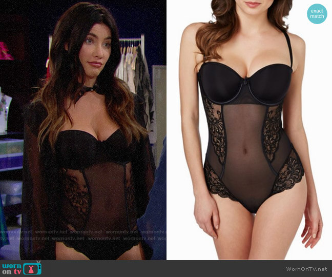 Le Mystere Sophia Strapless Bodysuit worn by Steffy Forrester (Jacqueline MacInnes Wood) on The Bold & the Beautiful