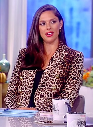 Abby's leopard print jacket on The View