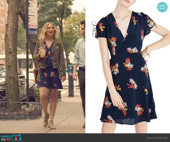 Madewell Cactus Flower Silk Dress worn by Elizabeth Lail on You