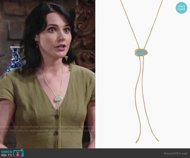 Madewell Foretell Bolo Necklace worn by Tessa Porter (Cait Fairbanks) on The Young & the Restless