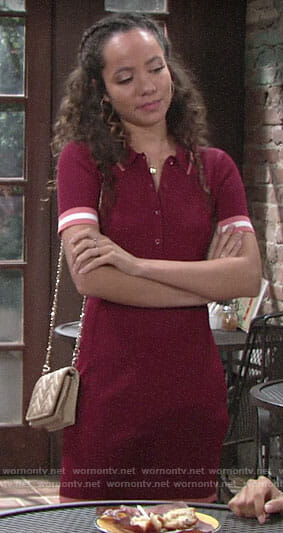 Mattie's red polo dress on The Young and the Restless