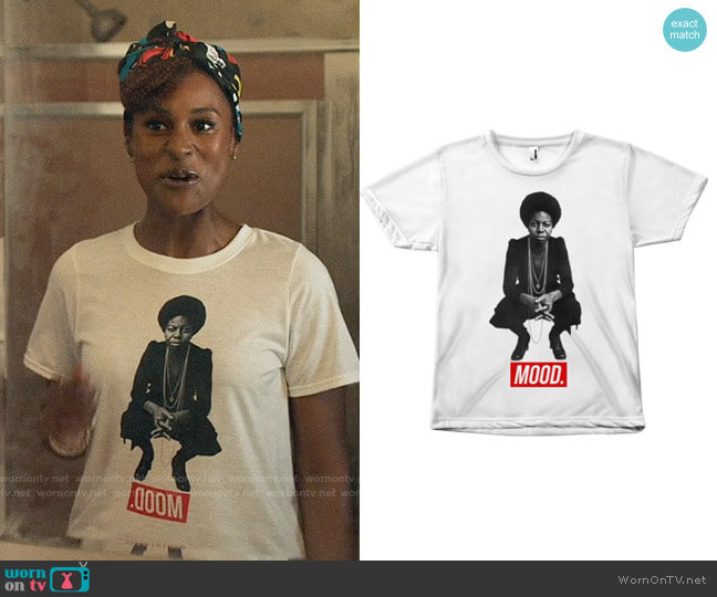 Melanin Apparel Nina Simone Mood T-shirt worn by Issa Dee (Issa Rae) on Insecure