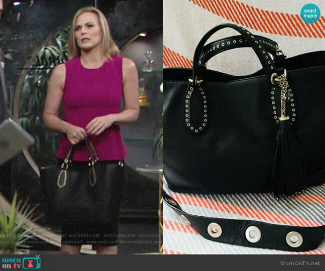MICHAEL Michael Kors Brooklyn Tote worn by Phyllis Newman (Gina Tognoni) on The Young & the Restless
