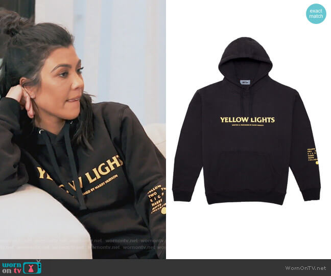 Yellow Lights Hoodie by MSFTSRep worn by Kourtney Kardashian (Kourtney Kardashian) on Keeping Up with the Kardashians