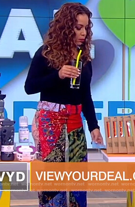 Sunny's multi-colored midi skirt on The View