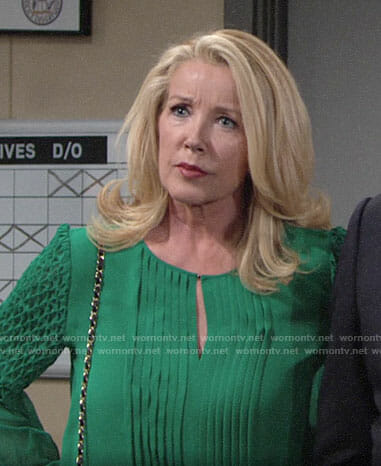 Nikki's green blouse on The Young and the Restless