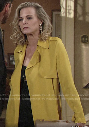 Phyllis's yellow trench coat on The Young and the Restless