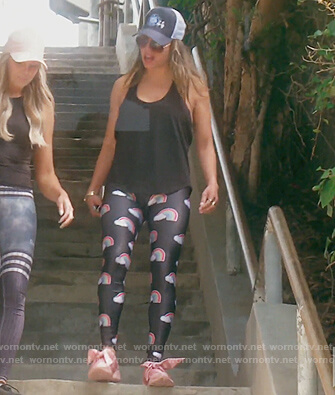Kelly's black rainbow print leggings on The Real Housewives of Orange County
