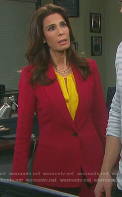 Hope's pink single button blazer on Days of our Lives