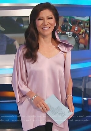 Julie's purple asymmetric top on Big Brother