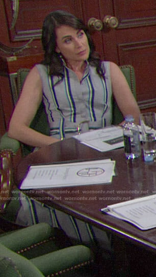 Quinn's striped shirtdress on The Bold and the Beautiful