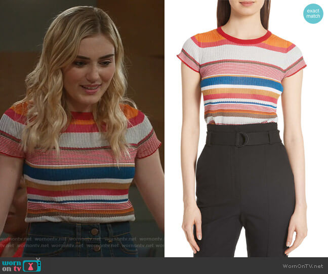 Taylor's striped top on American Housewife