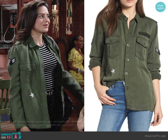 Rails Kato Military Jacket worn by Lola Rosales (Sasha Calle) on The Young & the Restless