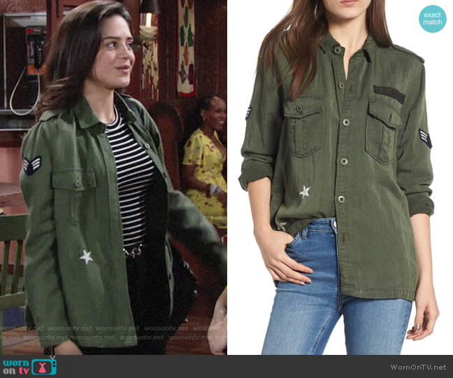 Rails Kato Military Jacket worn by Sasha Calle on The Young & the Restless
