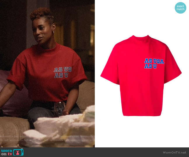 Reebok As USA As U T-shirt worn by Issa Dee (Issa Rae) on Insecure