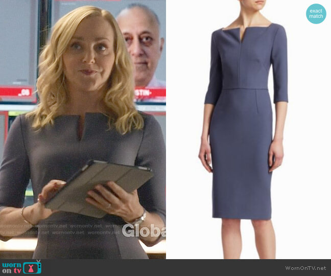Roland Mouret Etty Dress worn by Marissa Morgan (Geneva Carr) on Bull