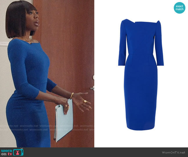 Roland Mouret Witham Dress worn by Molly Carter (Yvonne Orji) on Insecure