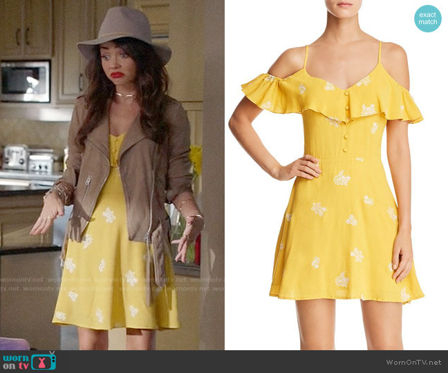 Sadie & Sage Embroidered Cold Shoulder Dress worn by Haley Dunphy (Sarah Hyland) on Modern Family