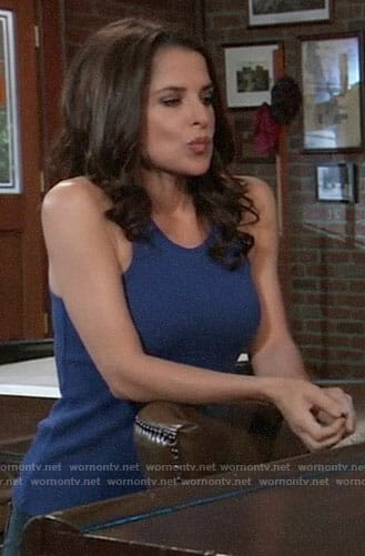 Sam's blue tank top on General Hospital