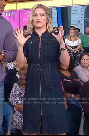 Sara's zipped denim dress on GMA Day