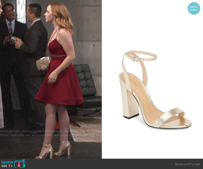 Schutz Ayda Sandals worn by Camryn Grimes on The Young & the Restless