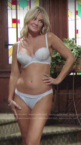 Sharon's lace lingerie on The Young and the Restless