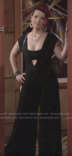 Sinead's black jumpsuit on The Young and the Restless
