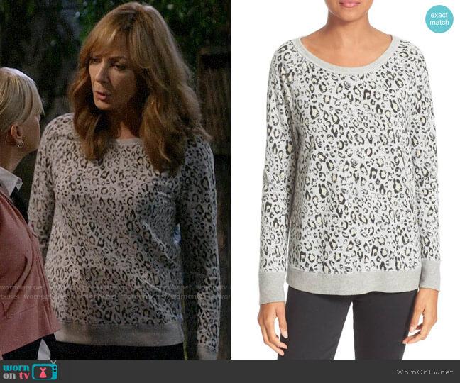 Soft Joie Annora Animal Print Sweater worn by Bonnie Plunkett (Allison Janney) on Mom