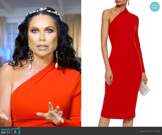 Ambre Dress by Solace London worn by LeeAnne Locken  on The Real Housewives of Dallas