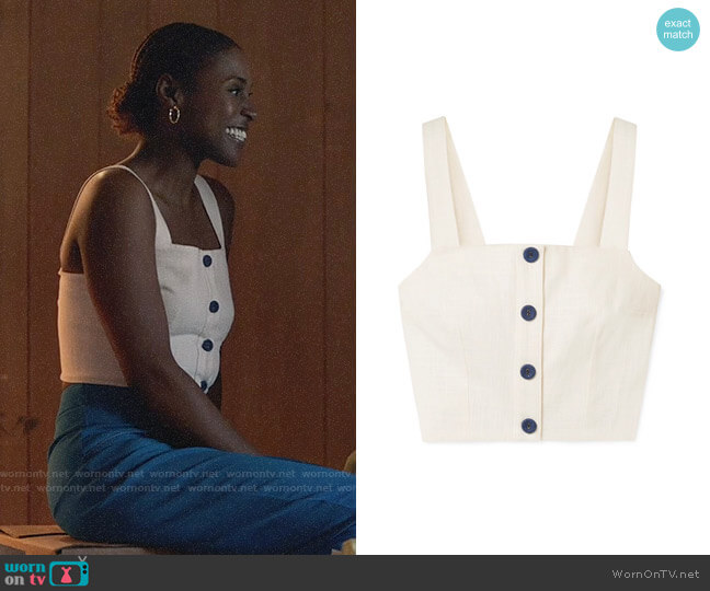 Staud Cita Top worn by Issa Rae on Insecure