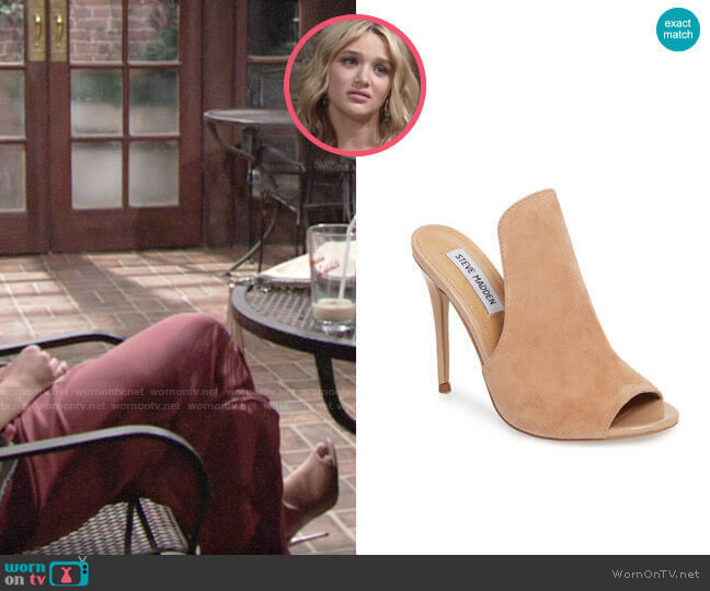 Steve Madden Sinful Sandal worn by Summer Newman (Hunter King) on The Young & the Restless