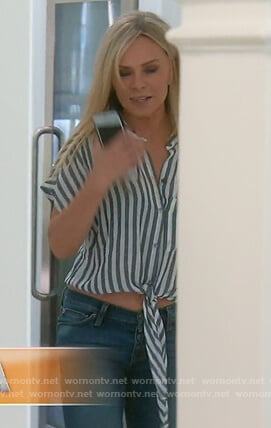 Tamra's striped tie front top on The Real Housewives of Orange County