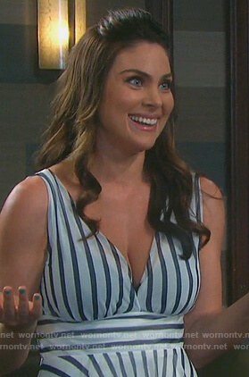 Chloe's striped v-neck dress on Days of our Lives