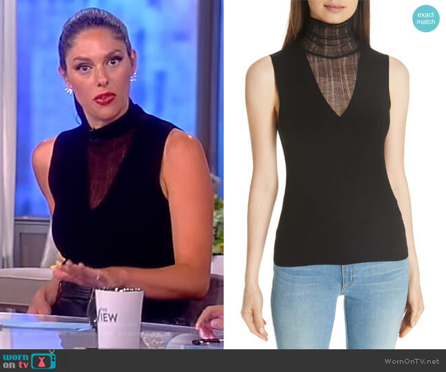 Faux Double Layer Shell by Theory worn by Abby Huntsman (Abby Huntsman) on The View