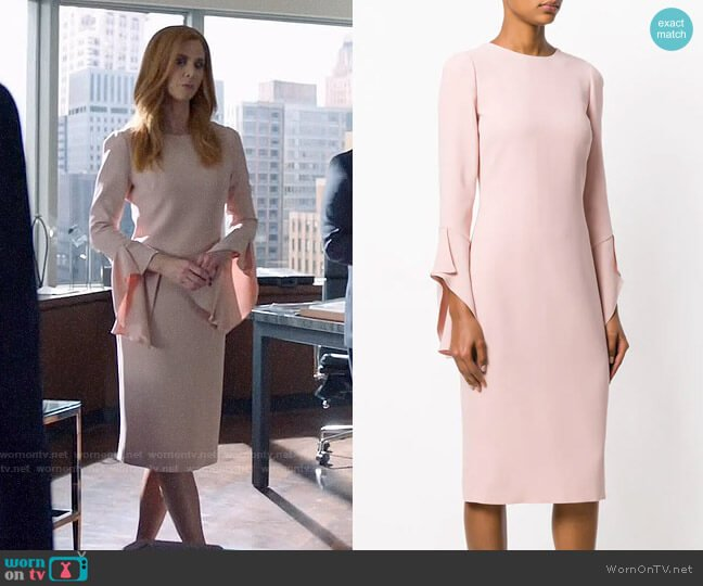 Tom Ford Ruffled Sleeves Dress worn by Donna Paulsen (Sarah Rafferty) on Suits