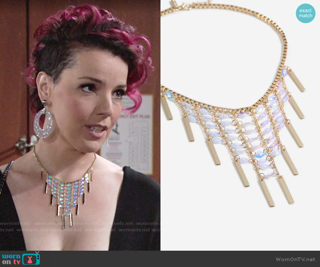 Topshop Sequin Stick Collar Necklace worn by Sinead on The Young and the Restless
