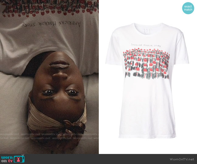 Unfortunate Portrait American Horror Story T-shirt worn by Issa Dee (Issa Rae) on Insecure