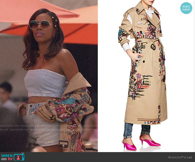 Valentino 2-In-1 Embellished Trench Coat worn by Molly Carter (Yvonne Orji) on Insecure