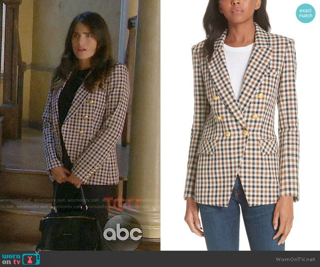 Veronica Beard Lonny Jacket worn by Karla Souza on HTGAWM