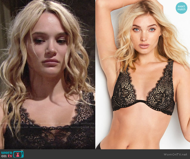 Victorias Secret Very Sexy Wicked Unlined Plunge Bra worn by Hunter King on The Young & the Restless
