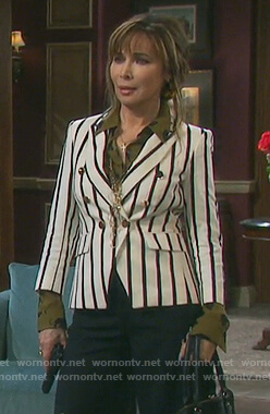 Kate's white striped blazer on Days of our Lives