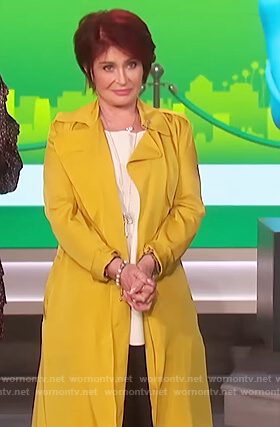 Sharon's yellow trench coat on The Talk