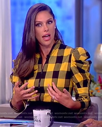 Abby's yellow checked top on The View