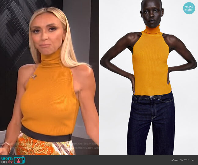 Ribbed Halter Top by Zara worn by Giuliana Rancic on E! News